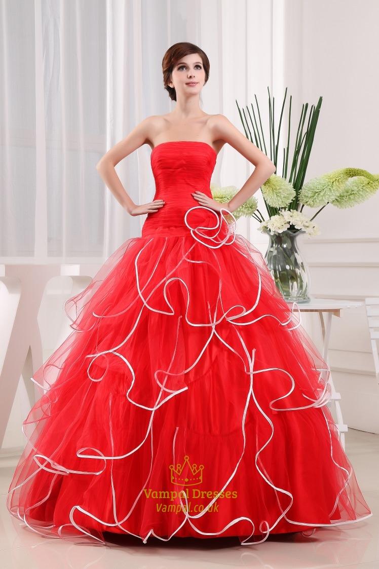 Red White Prom Dresses 55