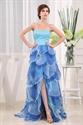 Sweetheart Strapless Beaded Long Prom Dress, Prom Dresses Split Middle