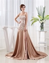 Floor Length Strapless Sweetheart Sequin Gown, Long Sequin Prom Dress