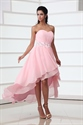 Tempting Princess Strapless Beading Cascading Ruffles Asymmetrical Prom Dresses