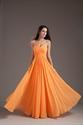 Gorgeous Orange Sweetheart Strapless Ruffles Long Summer Princess Bridesmaid Dress