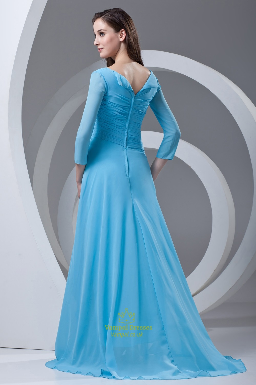 The Mother of Bride Dresses Floor Length Sky Blue – fashion dresses