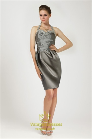 Short Silver Cocktail Dresses 40
