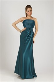 Teal Evening Maxi Dress,Long Teal Blue Prom Dresses 2019