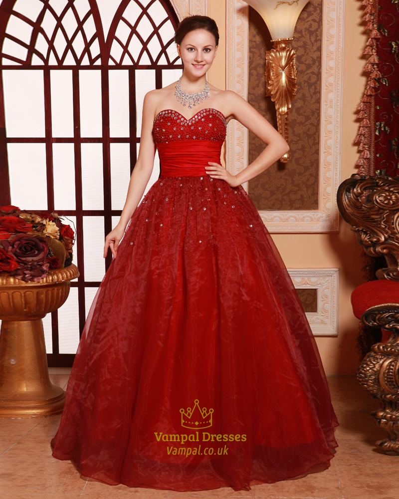 Red Quinceanera Dresses 2016,Red Ball Gown Prom Dresses 2016 ...