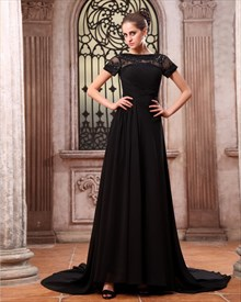 Elegant Black Formal Prom Dresses,Black Maxi Dresses With Sleeves UK