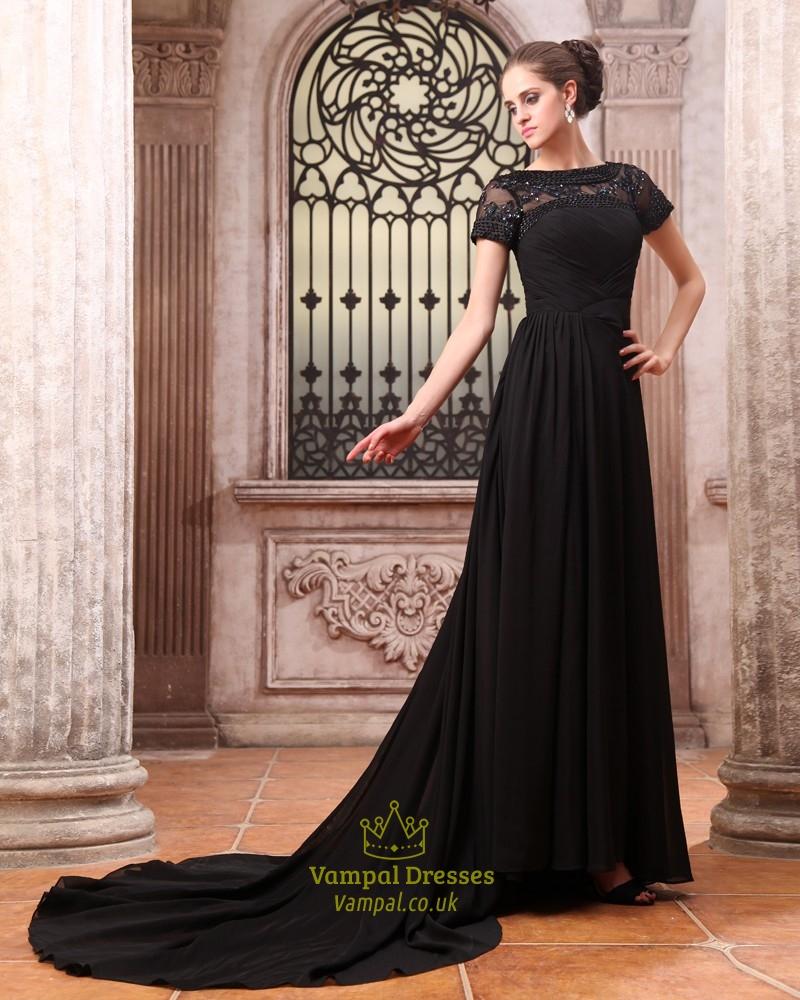 Evening maxi dress long sleeves