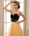 Gold Sequin Tulle Dress,Gold Sequin Dress With Black Top