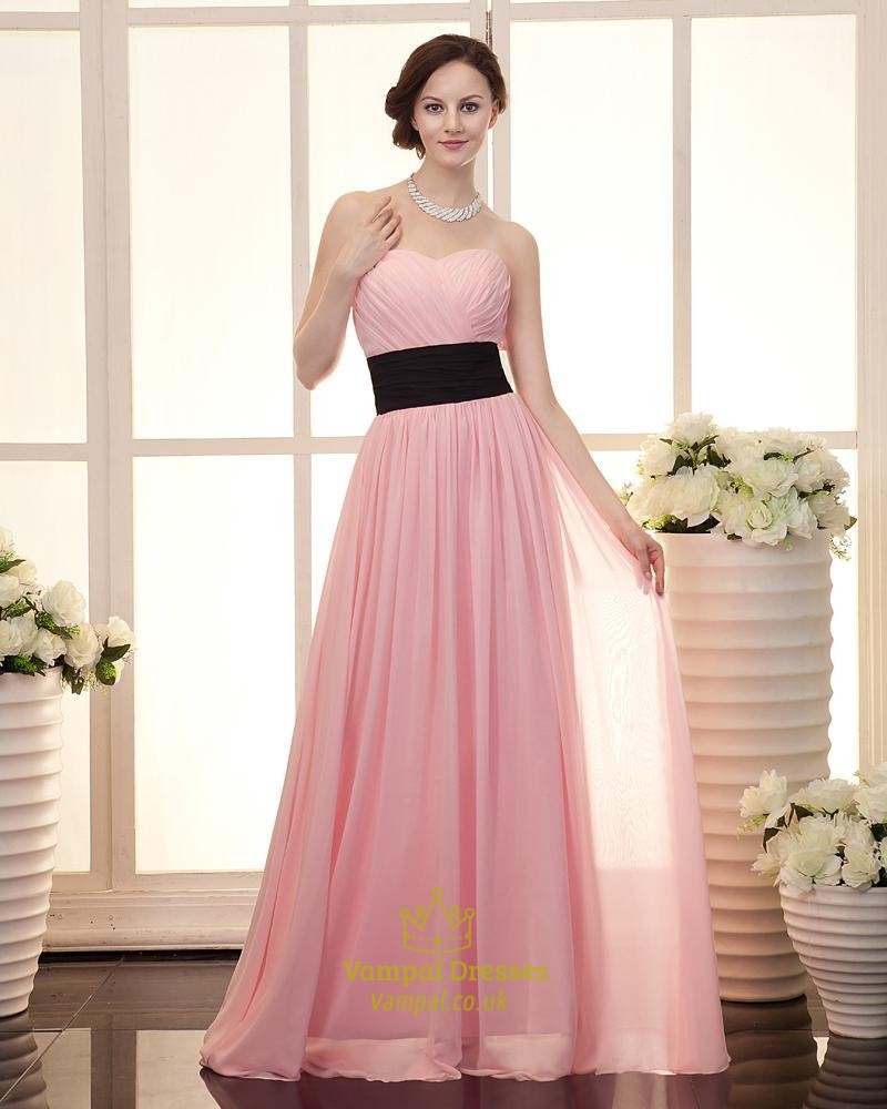 Wedding Gowns In Pink: Light Pink Bridesmaid Dresses Chiffon Strapless,Cute Light