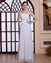 White Pleated Maxi Dress,White Maxi Dresses For Women