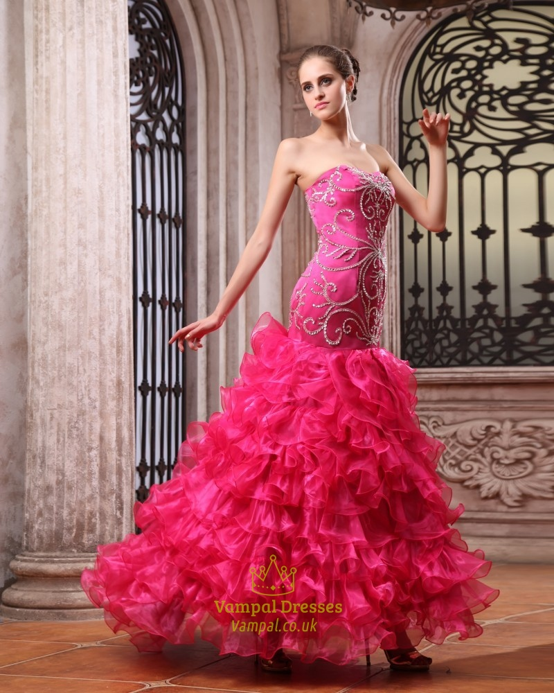 Pink Quinceanera Dresses From Mexico For Sale,Hot Pink Quinceanera ...