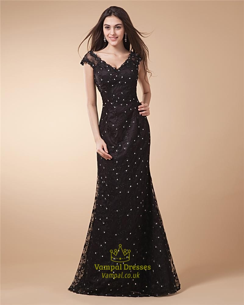 black lace mermaid prom dresslace prom dresses vintage uk
