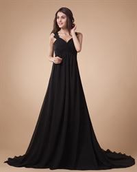 Black Lace Straps Maxi Prom Dresses 2018,Black Wedding Dresses 2018