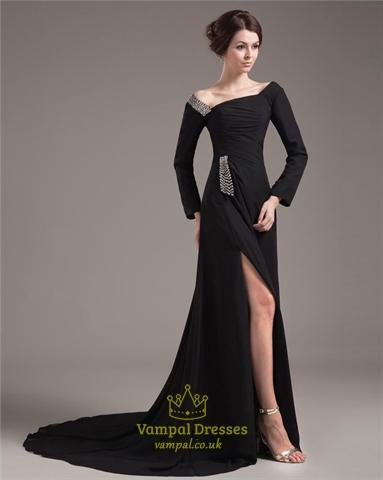 Prom Dresses With Slits Uk 36