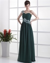 Forest Green Dresses For Bridesmaids,Emerald Green One Shoulder Prom Dress