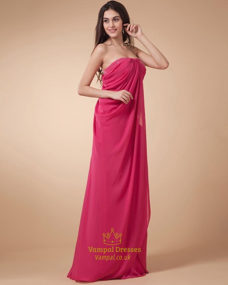 Pink Dressers For Girls Bedroom Set: Hot Pink Strapless Dress,Hot Pink Dresses For Women