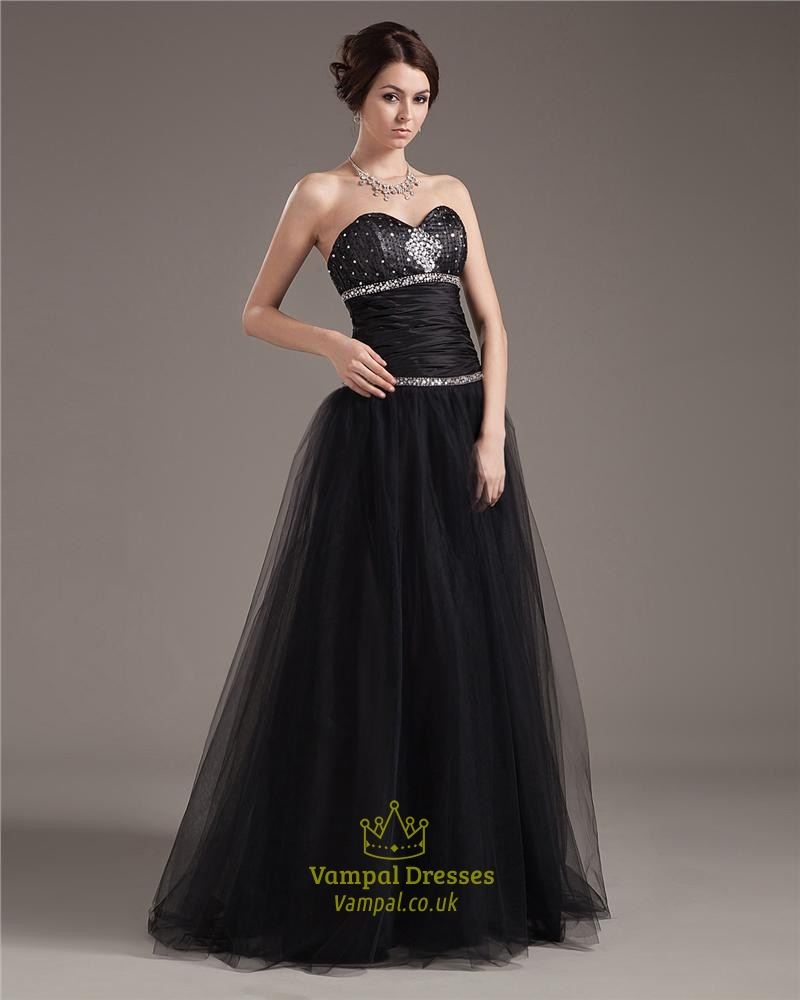 black ball gown prom dresses with corset bodiceblack
