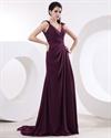 Purple Cap Sleeve Bridesmaid Dresses,Cap Sleeve Dresses Formal