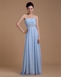 Light Blue Strapless Sweetheart Crop Top Prom Dress For Women