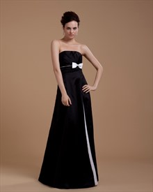 Black And White Striped Strapless Maxi Dress,Black And White Dresses For Juniors