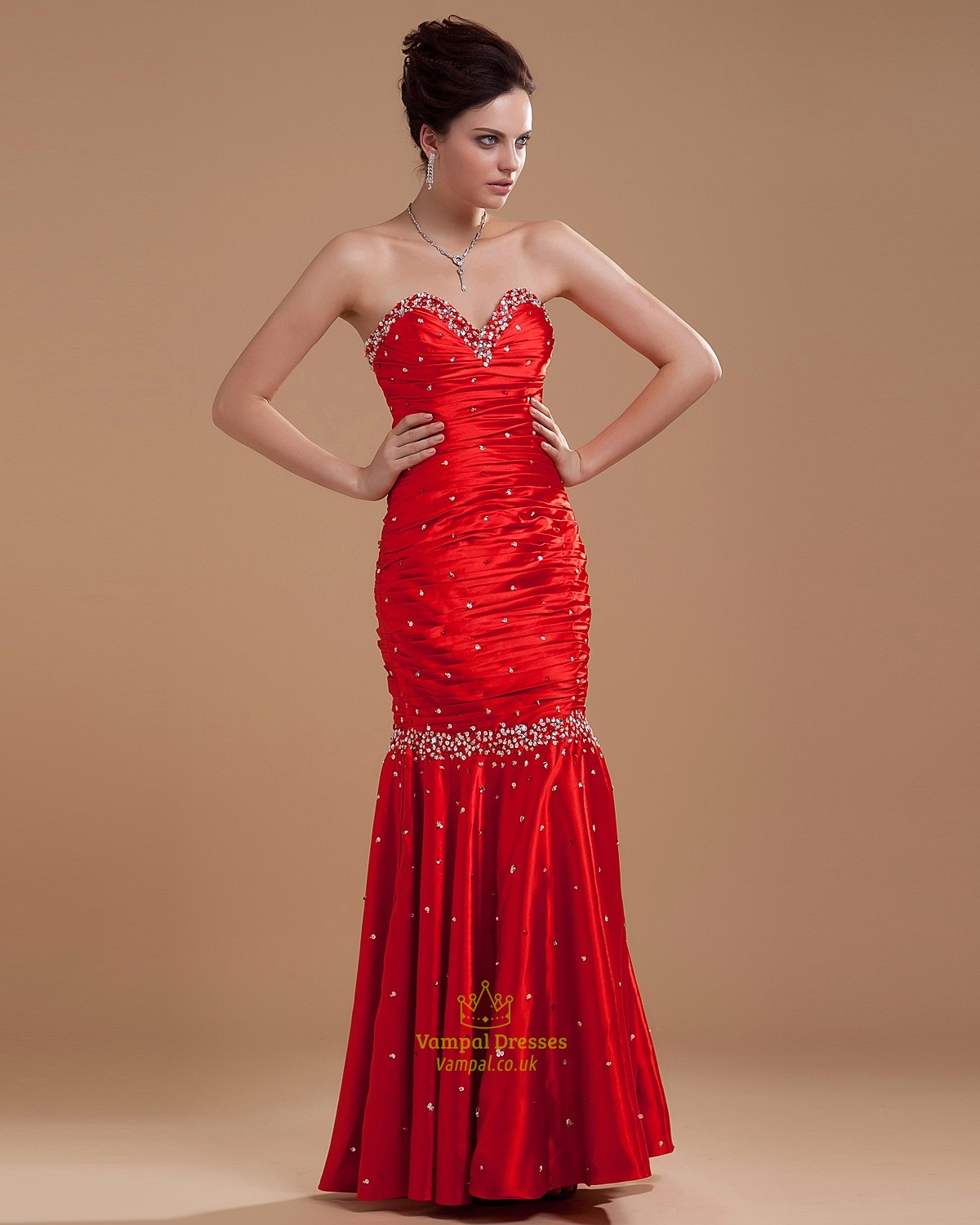 Red Mermaid Prom Dresses 2016,Red Prom Dresses 2016