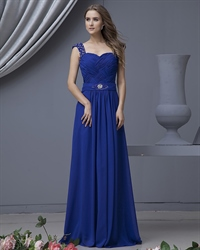 Royal Blue One Shoulder Evening Dresses,One Shoulder Royal Blue Bridesmaid Dresses