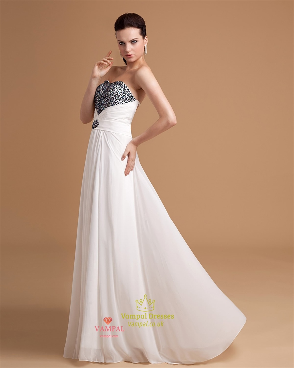 Gowns For Women: White Evening Gowns For Women,Black And White Evening