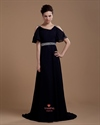 Long Black Formal Gowns With Sleeves,Black Prom Dresses Long 2021