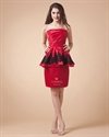Short Red Prom Dresses 2021 With Straps,Red Mini Dress  For Teenagers