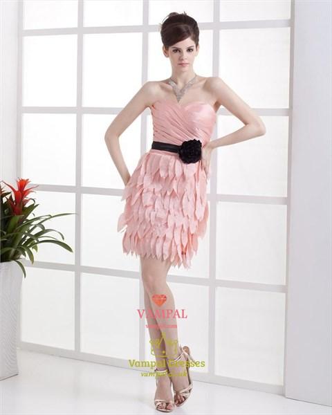Short Pink Dresses For Teenagers,Light Pink Cocktail Dresses Sale