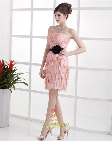 Short Pink Dresses For Teenagers,Light Pink Cocktail Dresses Sale