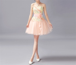 Graceful Chiffon Spaghetti Strap Short Dress Prom Gown
