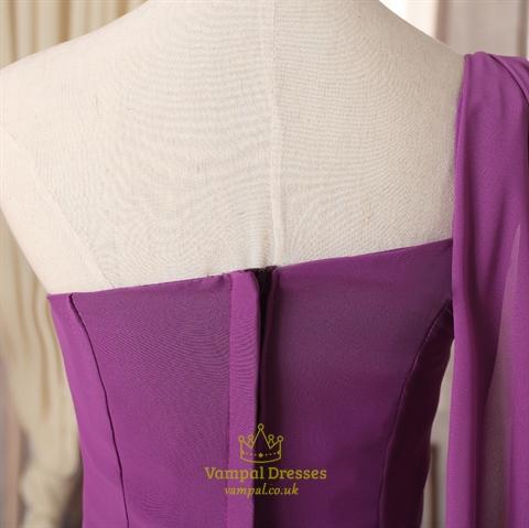 purple bridesmaid dresses with sleevespurple bridesmaid