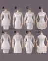 Short Off White Lace Bridesmaid Dresses,White Lace Dress Knee Length  Sleeveless
