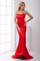 Red Mermaid Prom Dresses 2021,Slim Red Mermaid Prom Dresses