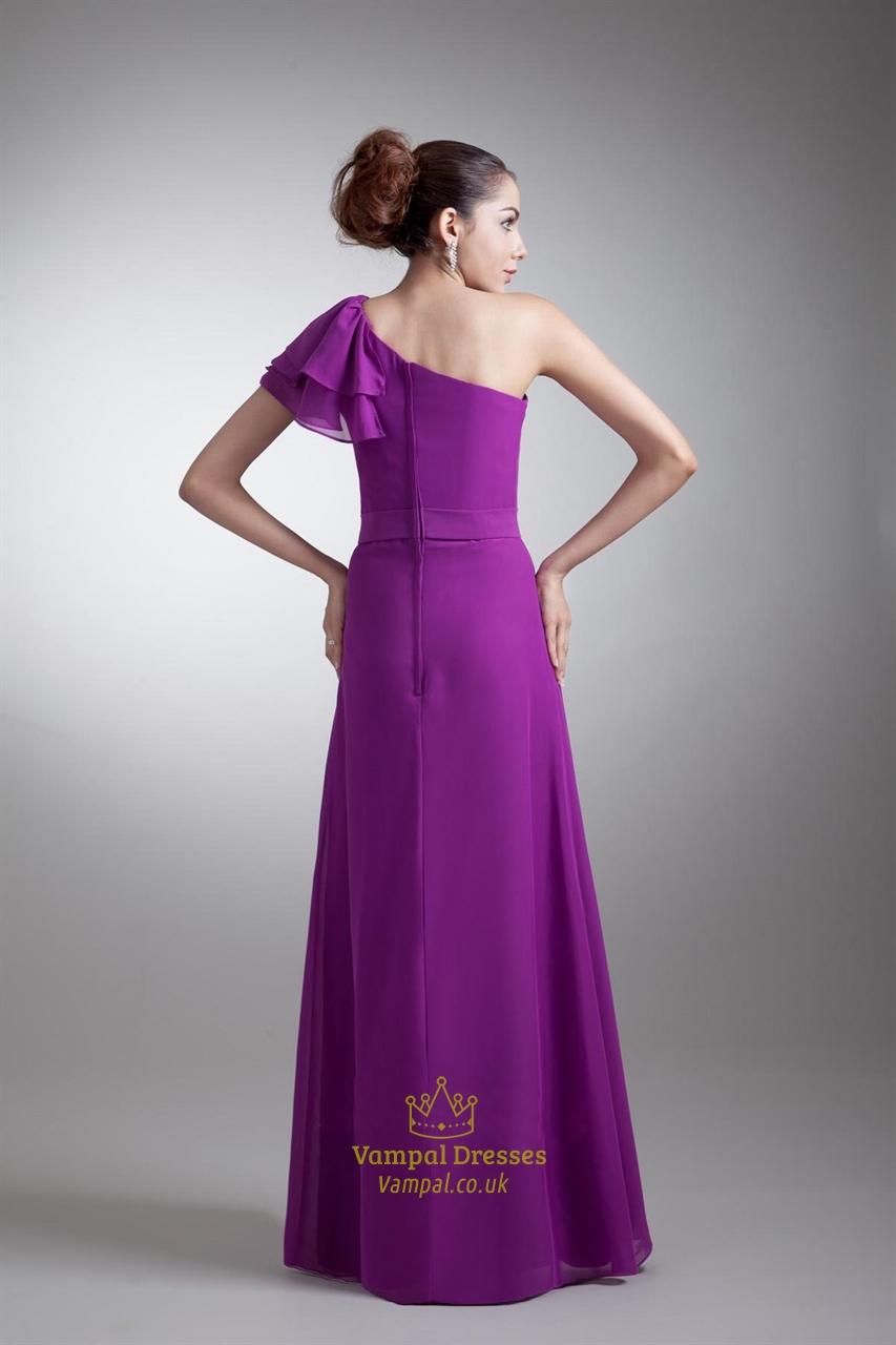 Purple Bridesmaid Dress Sleeves 12