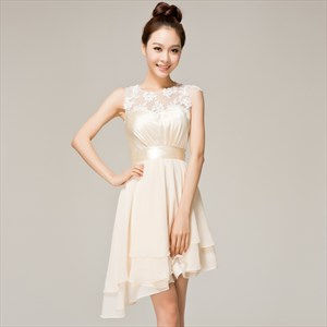 Lace Chiffon Bridesmaid Dresses,Lace Short Bridesmaid Dresses With Sleeves