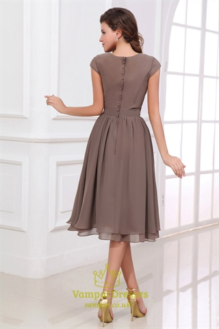 Brown Bridesmaid Dresses With Sleeves,Coffee Coloured Bridesmaid Dresses