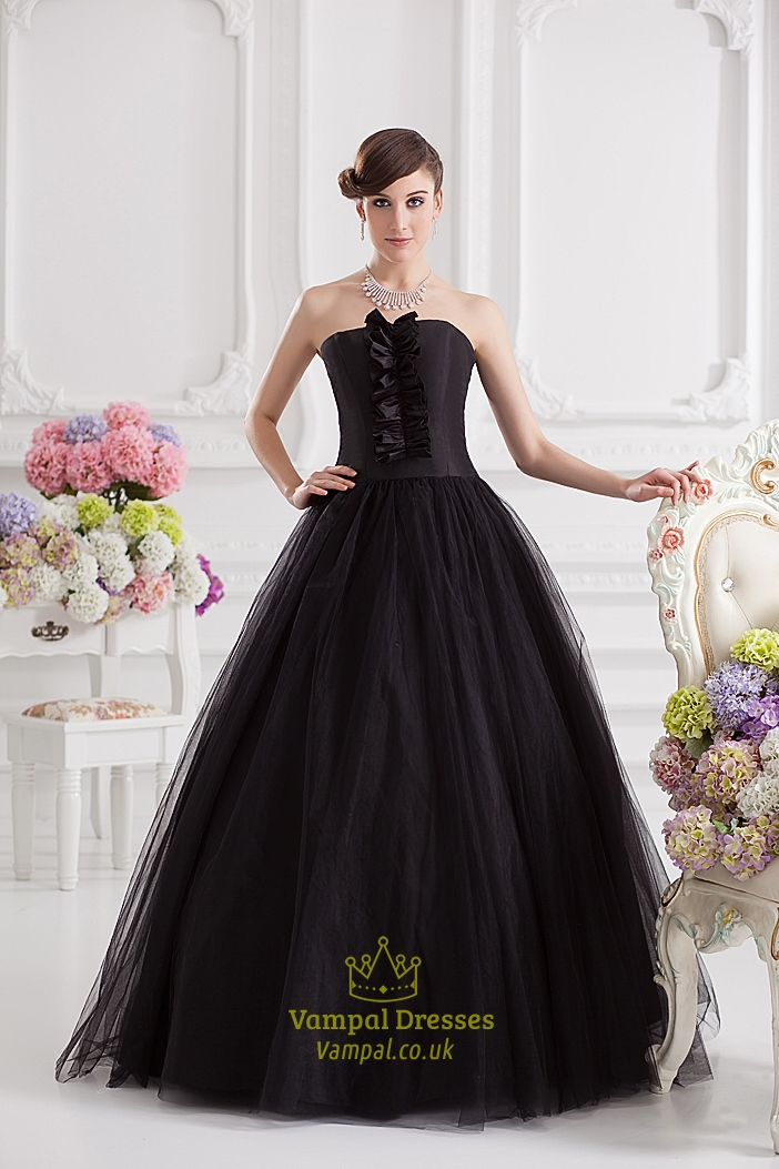 Black Ball Gown Prom Dresses,Black Ball Gown Dresses UK | Vampal ...