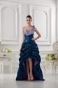 One Shoulder High Low Prom Dresses,Blue High Low Formal Dresses