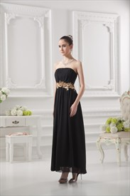 Black Bridesmaid Dresses Long,Simply Black Bridesmaids Dresses