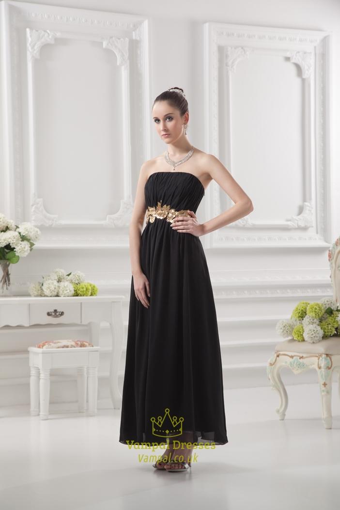 Black Bridesmaid Dresses Long Simply Black Bridesmaids