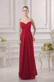 Red Spaghetti Strap Long Dress,Spaghetti Strap Maxi Dress Pattern