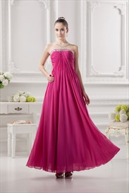 Fuschia Pink Bridesmaids Dresses,Fuschia Pink Dress For Wedding