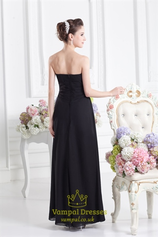 Black Sweetheart Strapless Bridesmaid Dressblack Bridesmaid Dresses