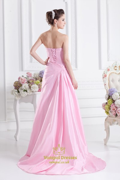 Pink Ball Gown Quinceanera Dresses,Light Pink Long Prom Dresses