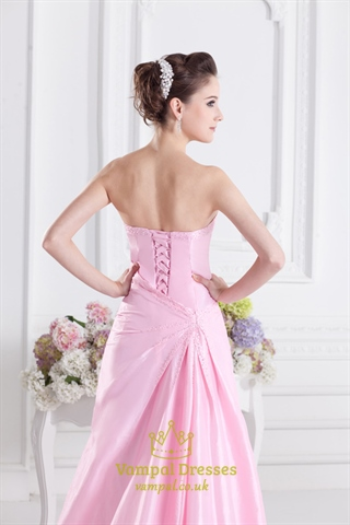 Pink Ball Gown Quinceanera Dresses Light Pink Long Prom