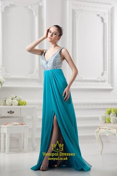 Aqua Blue Sequin Dress,Silver Sequin Tops For Women