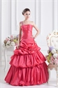 Hot Pink One Shoulder Prom Dress ,Pink Quinceanera Dresses From Mexico