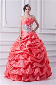 Salmon Quinceanera Dresses 2019,Bright Coral Quinceanera Dresses 2019